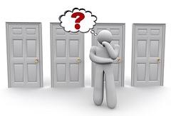 decidiendo que puerta escoger